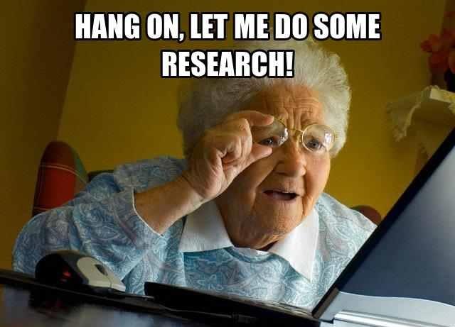 jangan minta nenek anda pula yang buat research