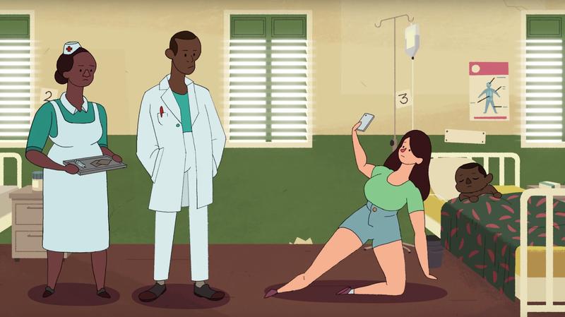 jangan selfie swafoto di hospital bersama orang yang sedang sakit
