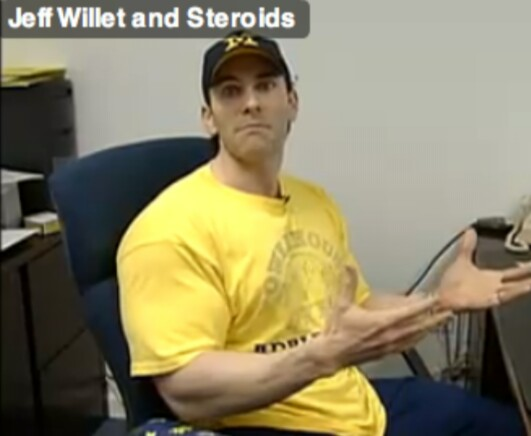 jeff willet memiliki saiz kepala yang kecil jika dibandingkan dengan tubuhnya