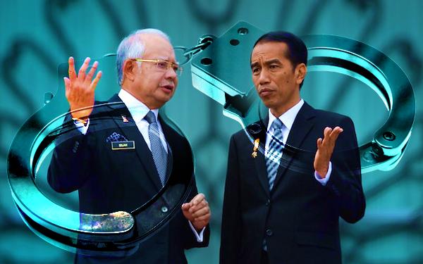 jokowi dan dato seri najib razak pemimpin negara