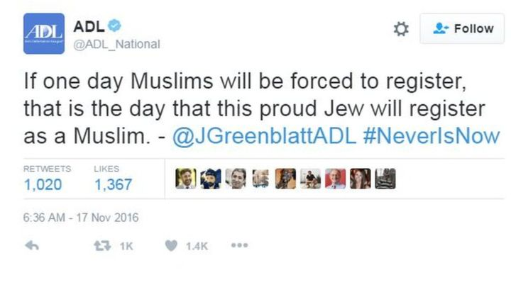 jonathan greenblatt tweet solidariti muslim 82