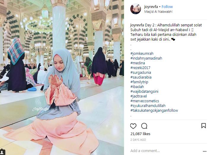 joy revfa berdoa di masjid nabawi membelakangkan kiblat 3