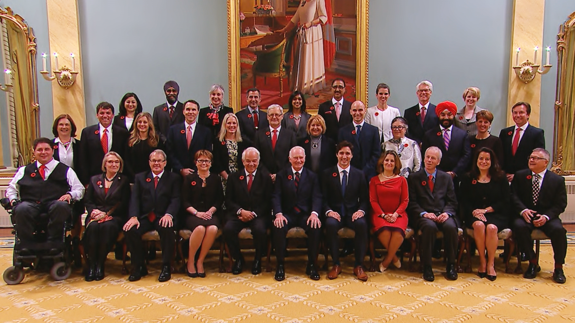 kabinet kerajaaan kanada mempunyai jumlah lelaki dan wanita yang sama
