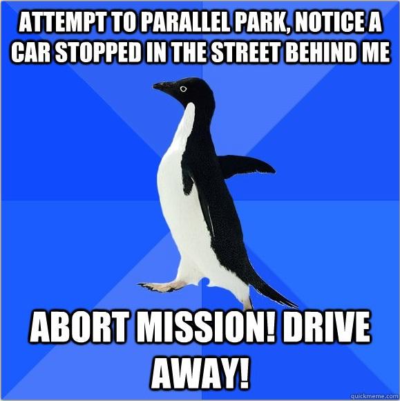 kadang kadang jadi takut nak letak kereta side park sebab malu orang belakang tengok