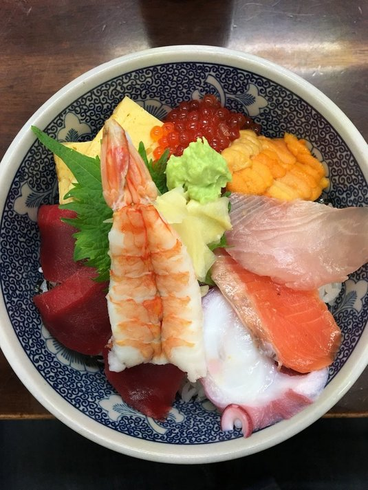 kaisendon nasi sushi pasar tsukiji jepun