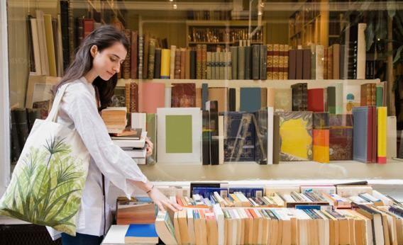kampung buku bandar yang mempunyai banyak kedai buku
