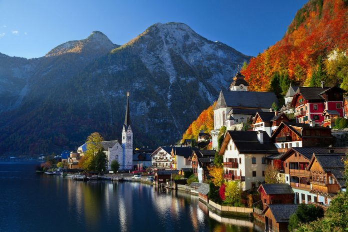kampung desa paling indah cantik di dunia austria hallstatt