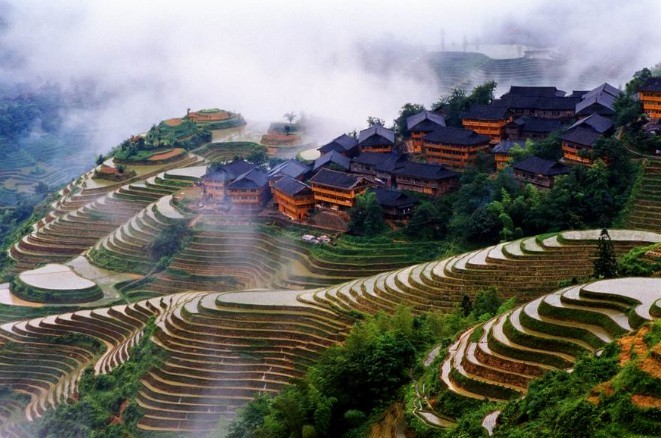 kampung desa paling indah cantik di dunia longji teres