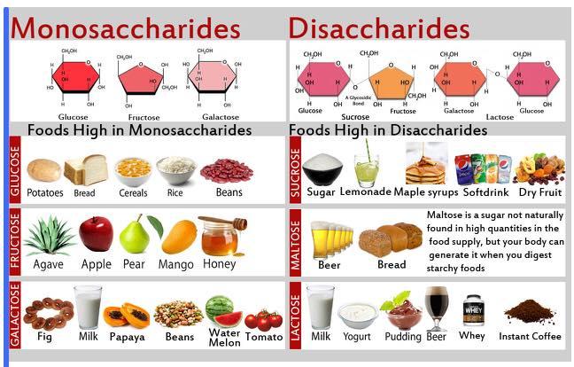 kandungan gula dalam makanan