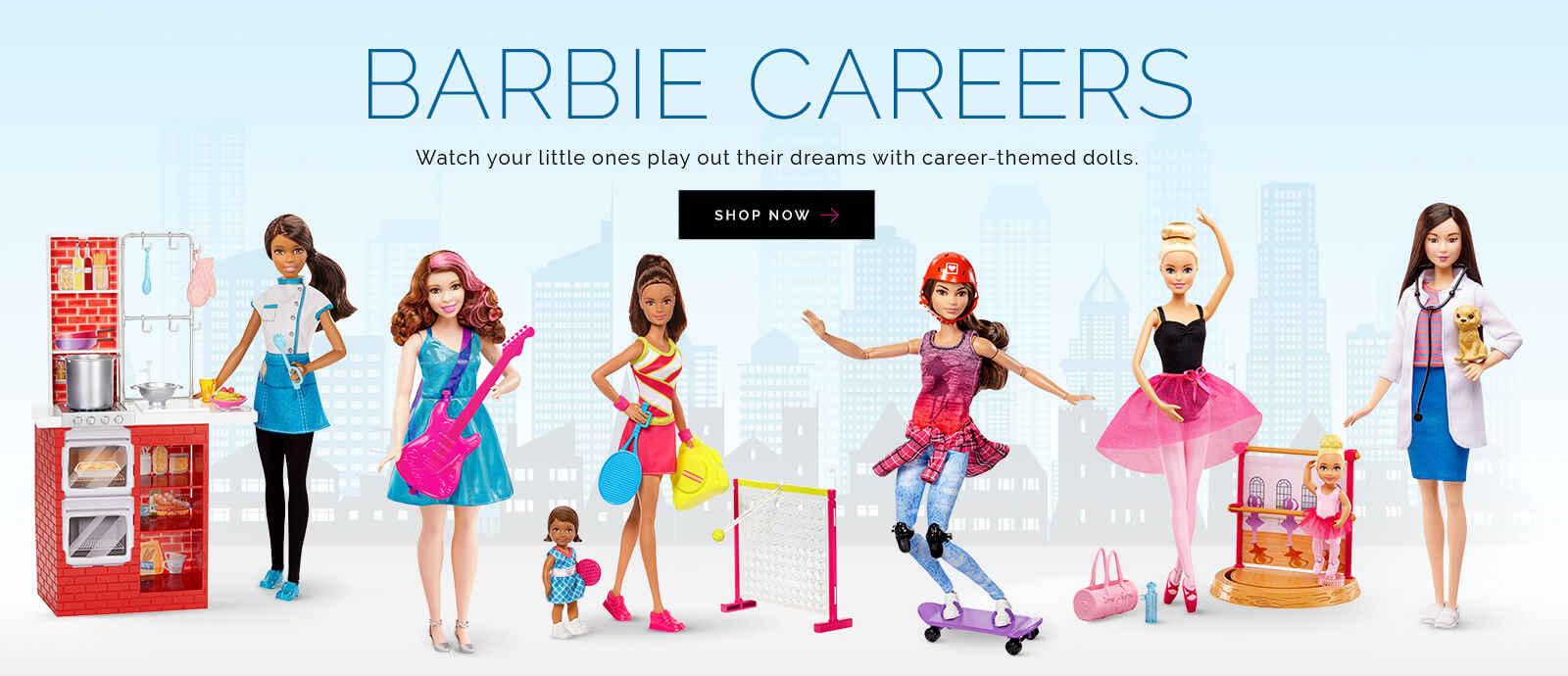 karakter barbie pelbagai kerjaya