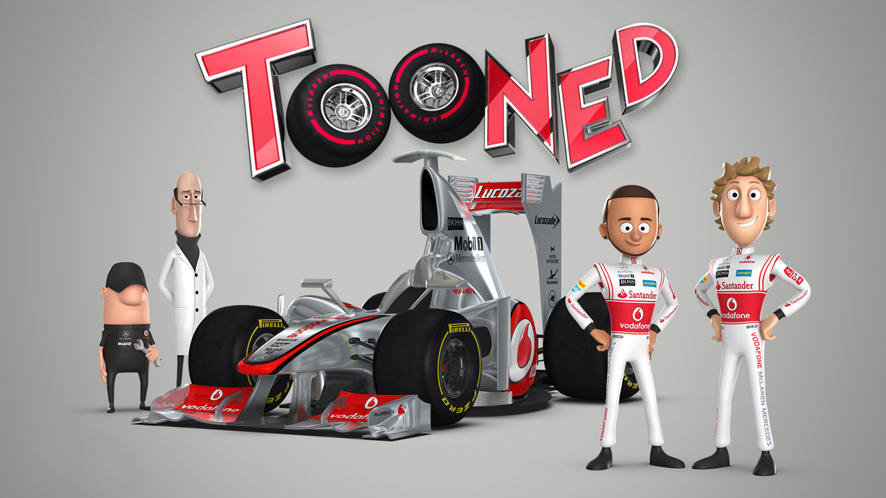 kartun tooned oleh mclaren automotive