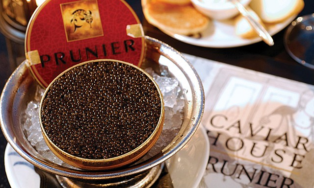 kaviar hidangan untuk orang kaya