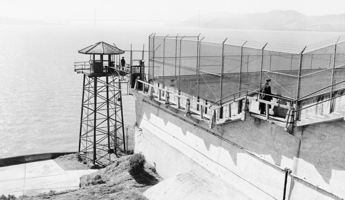 kawalan oleh petugas penjara di alcatraz