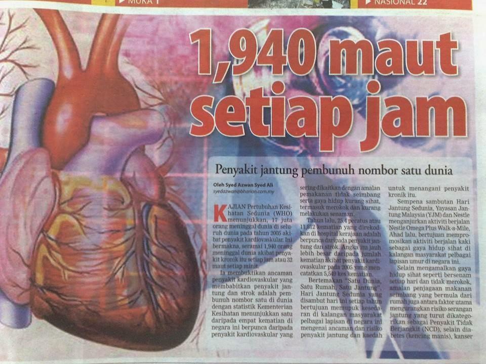 kebaikan berpuasa kurangkan risiko penyakit jantung