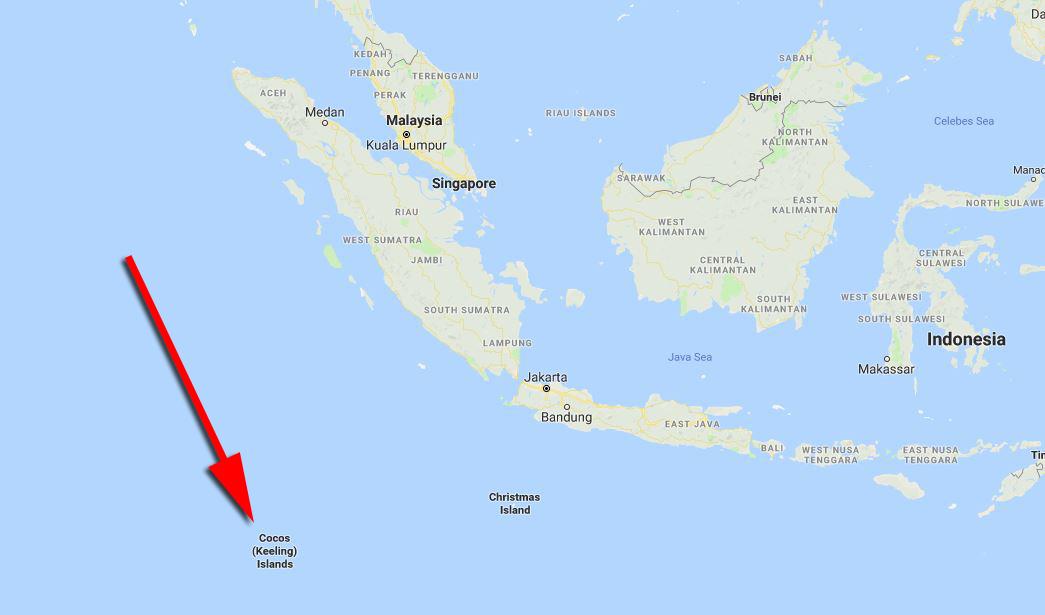 kedudukan pulau cocos keeling