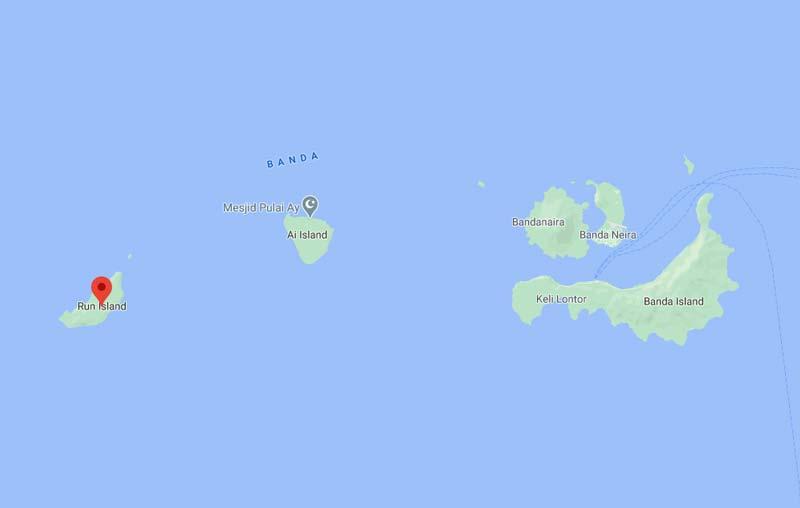 kedudukan pulau run dan ai