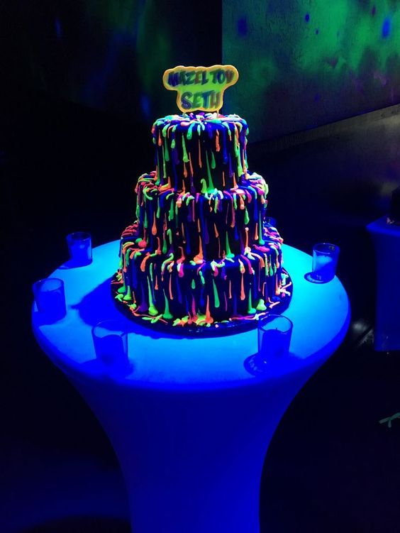 kek percikan neon