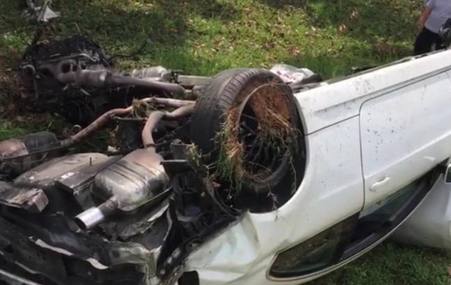 kemalangan ngeri awal ashaari dua tulang belakang retak tulang koksik pecah kereta remuk enjin tercabut 1