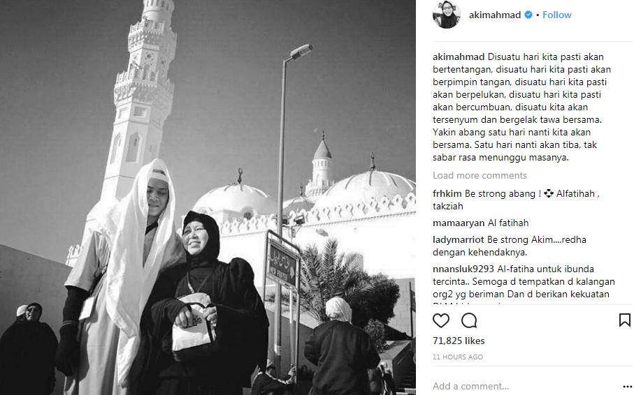 kenyataan akim ahmad tentang kematian ibunya buat netizen sebak 2