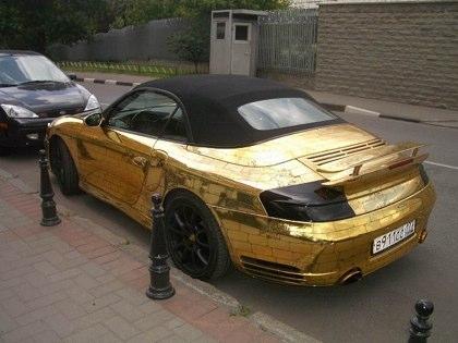 kereta sport porsche emas 7 item pelik yang dihasilkan dan disalut emas