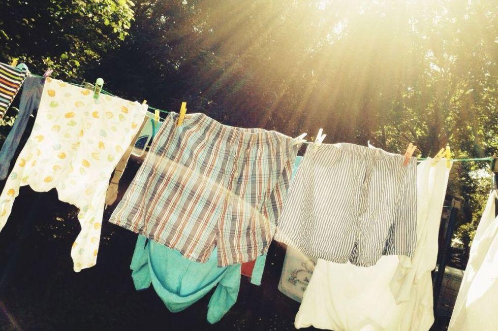 keringkan pakaian jemur atau guna dryer