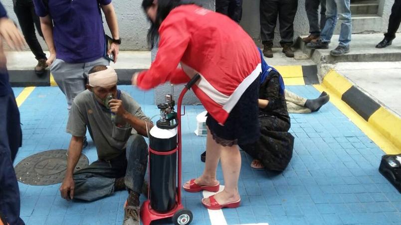 kes kebocoran gas ruang bawah tanah di jalan sultan ismail 3 pekerja kontrak cedera