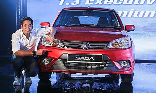 khairy jamaluddin lancar proton saga model baru