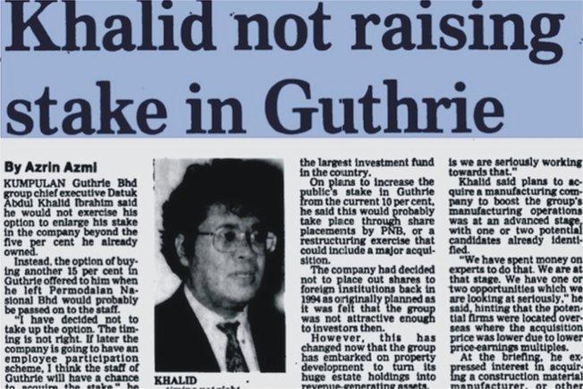 khalid ibrahim merancang strategi serangan dawn raid ke atas guthrie