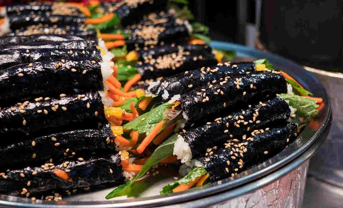 kimbap sayur di korea selatan