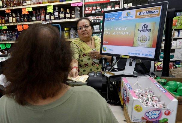 kiran sachdev isteri kepada pemilik yang menjual tiket memenangi hadiah jackpot mega millions