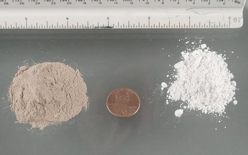 kokain serbuk putih coklat