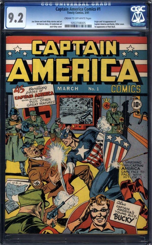 komik captain amerika edisi pertama di dunia