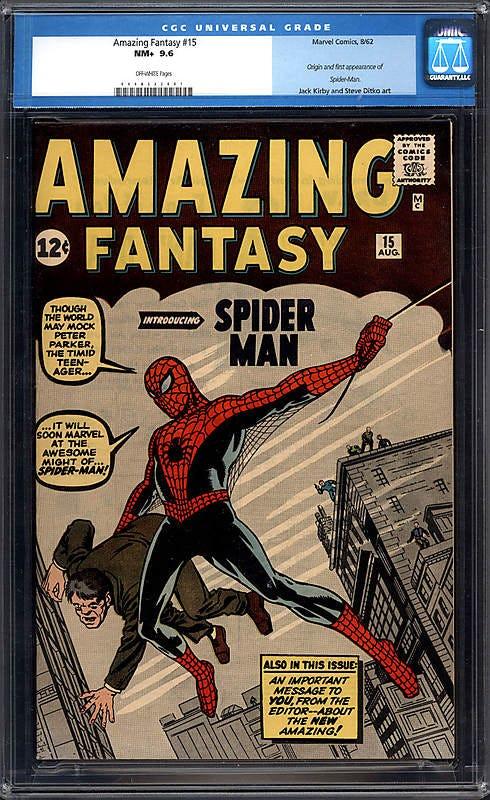 komik kemunculan pertama watak utama spider man