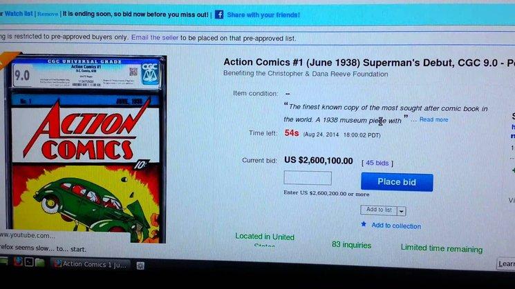 komik superman paling mahal pernah dijual di ebay