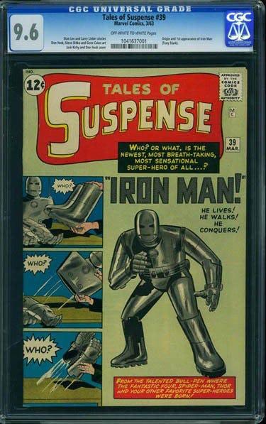 komik tales of suspen menampilkan watak iron man yang pertama