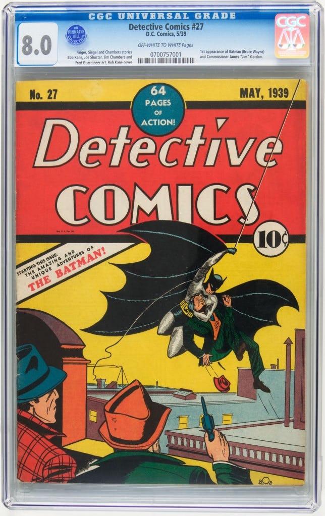 komik yang menampilkan watak batman yang wujud pada tahun 1939