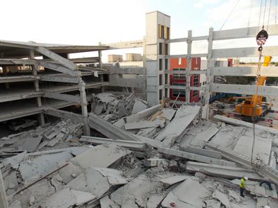 konkrit runtuh tanpa oksigen