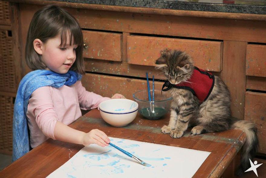kucing bantu kanak kanak autisma