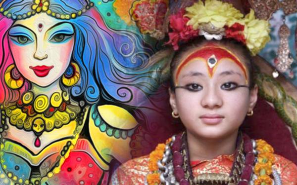 kumari goddess nepal kids