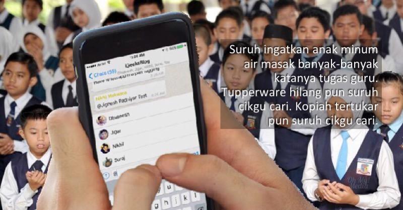 kumpulan whatsapp ibu bapa banyak memberi arahan kepada guru