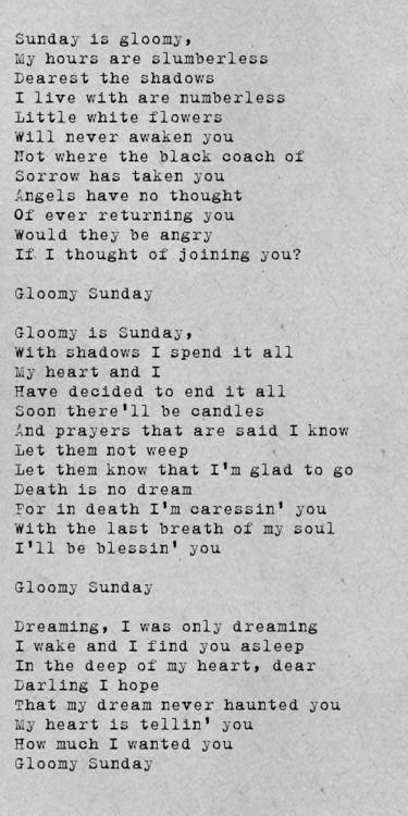 lagu gloomy sunday membuatkan ramai orang membunuh diri 59383