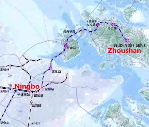 landasan kereta api bawah laut china dari ningbo ke zhoushan