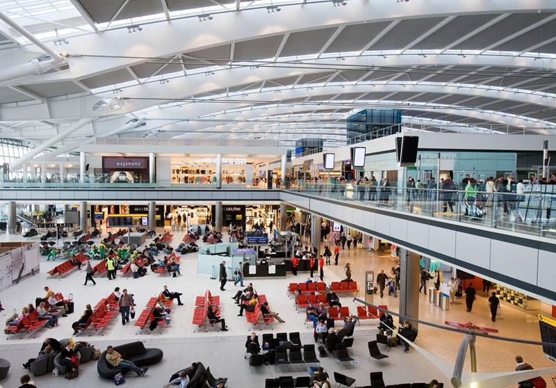 lapangan terbang heathrow keselesaan tempat duduk
