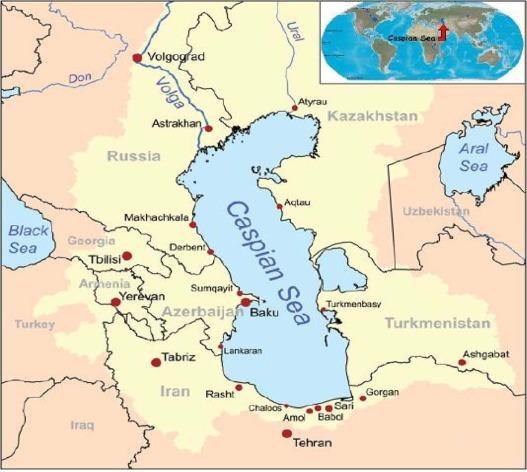 laut kaspia tasik paling besar dan dalam di dunia 3
