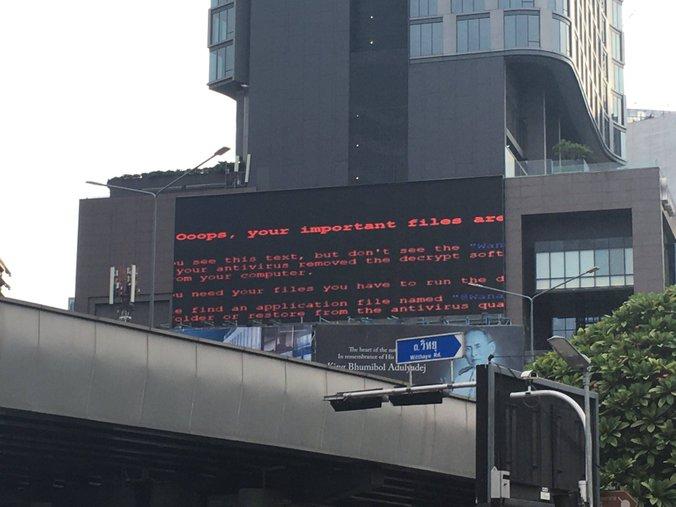 lcd pengiklanan di thailand ransomware