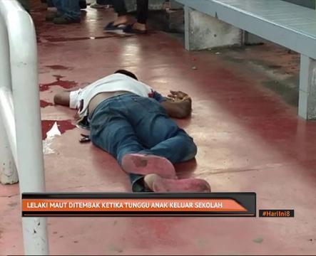 lelaki maut ditembak di perhentian bas depan sk sri serdang