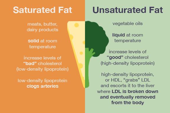 lemak tepu vs lemak tak tepu