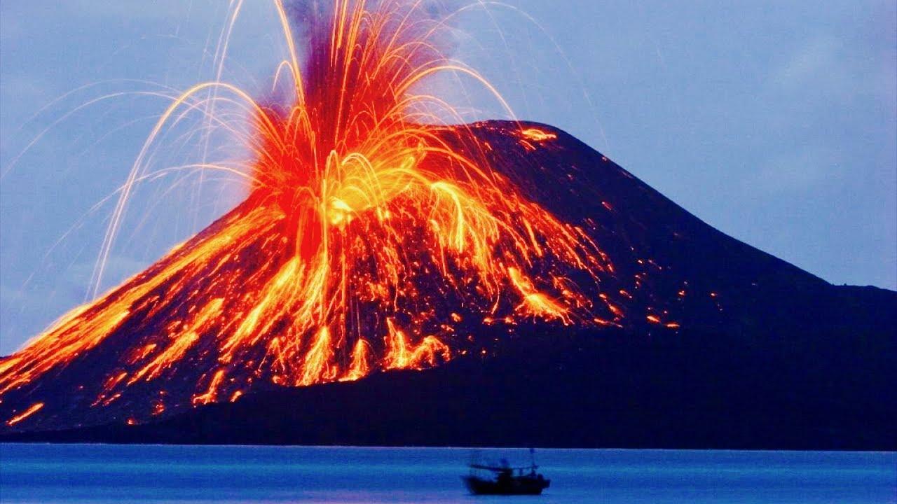 letusan gunung berapi rancak bumi besar