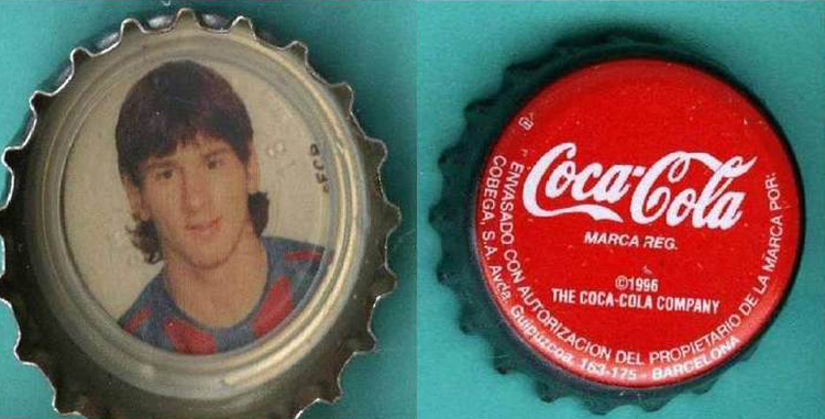 lionel messi suka minum coke