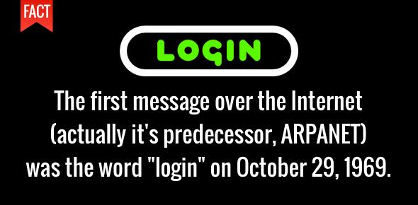 login mesej pertama melalui internet